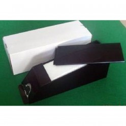 8 deck dealing shoe all black acrylic with cover lid