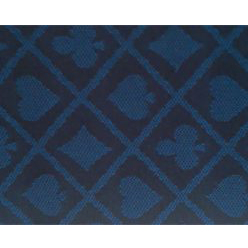 suite poker cloth two tone blue