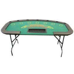 Blackjack table folding legs