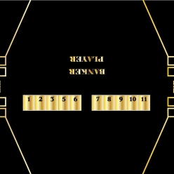 10' baccarat casino layout