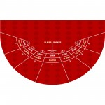 mini baccarat layout red color
