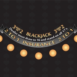 casino blackjack layout
