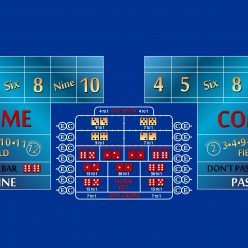 10' craps layout blue
