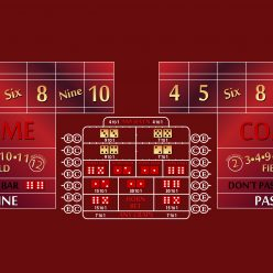 10' craps layout burgundy