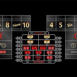 casino craps layout 12 foot