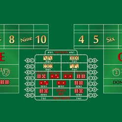 12 foot craps layout green