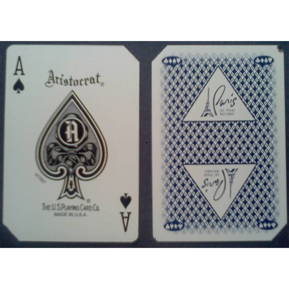 Used casino playing cards Paris blue back