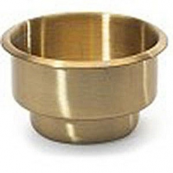 cup holder brass dual