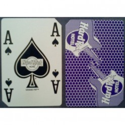 Playing cards used Hard Rock casino purple back