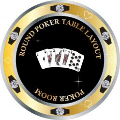 round poker layout design
