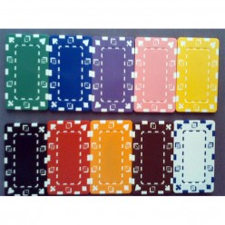 Rectangle poker chip plaque