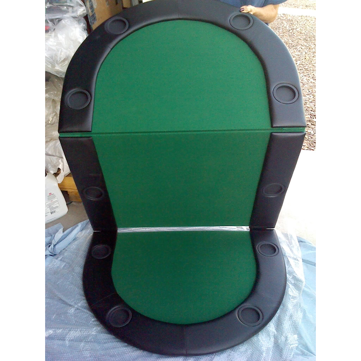 Top Table Cup Holders : Casino you poker table top with cup holders