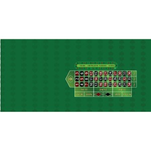 roulette table layout single 0