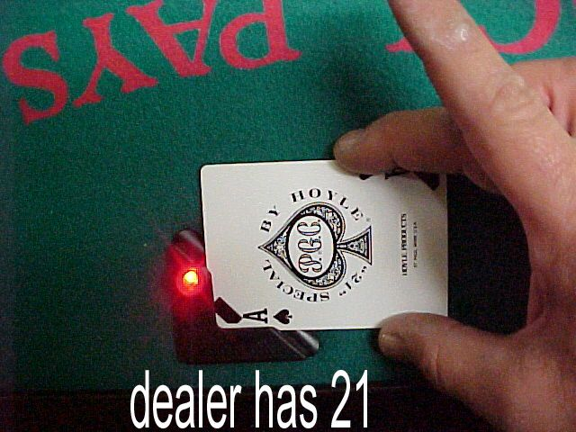 blackjack dealer peek