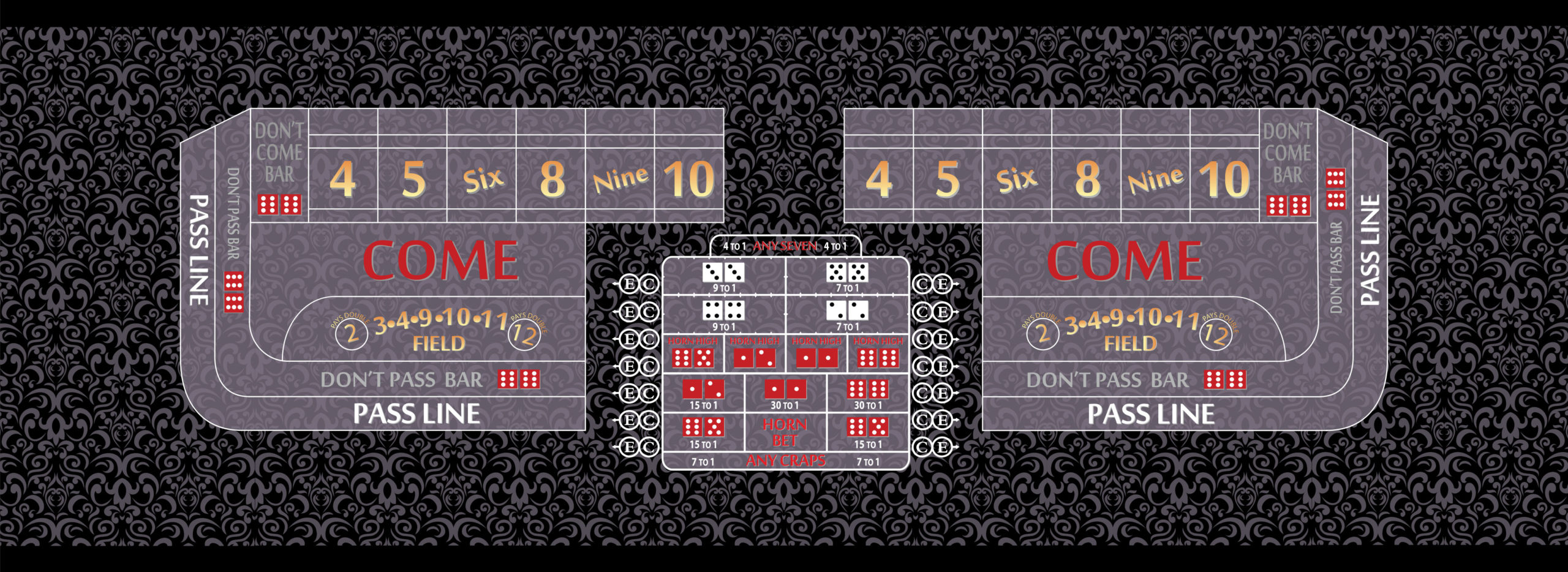 craps table layout