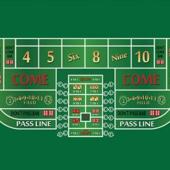 craps layout throwing station